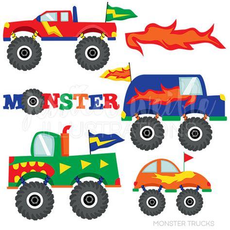 monster trucks clipart monster trucks cute digital clipart for commercial and
