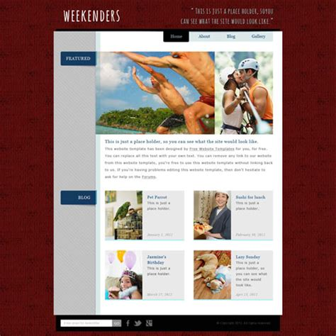 personal site template free personal website template free website templates