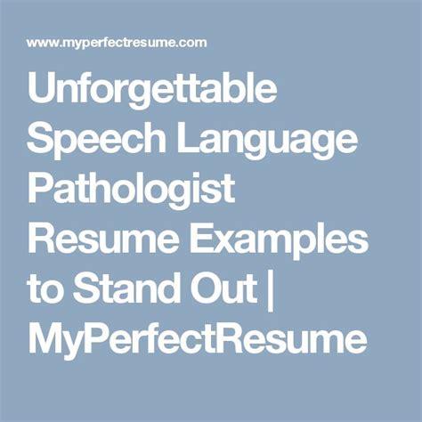 slp resume examples best of speech language pathologist resume in