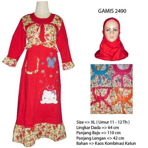 Gamis All Size Xl baju gamis anak hello 2490 size xl hanya rp 55 000 00