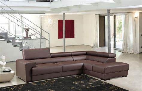 Modern Living Room With Brown Leather Sofa Modern Brown Leather Sectional Sofa Modern Sofas
