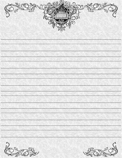 7 Best Images Of School Paper Printable Stationary Printable Writing Paper With Borders Free Paper Template With Border