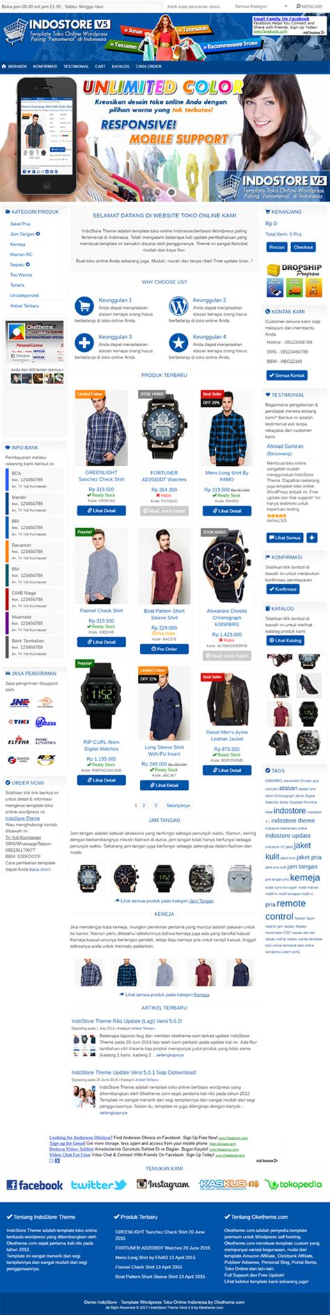 template wordpress toko online indonesia indostore theme wordpress theme toko online indonesia
