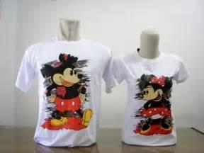 Baju Kaos Baju Pasangan Soulmate Mickey 10801 kaos grosir kaos eceran murah ka just