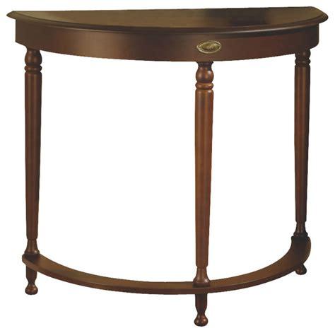 Half Moon Console Table Monarch Specialties 3389 Half Moon Table In Walnut Traditional Console Tables By