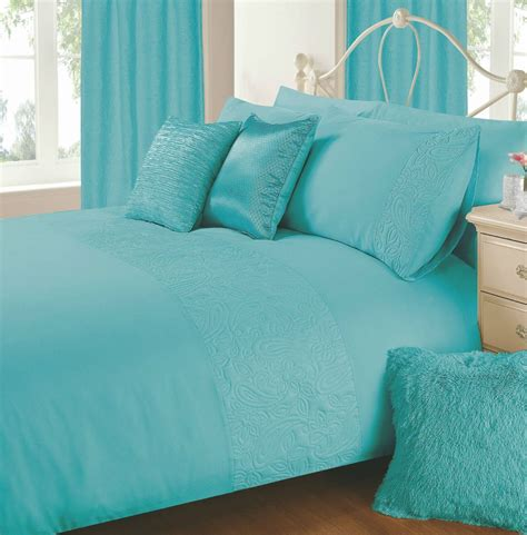 Aqua Blue Bedding by Aqua Blue Colour Plain Duvet Cover Microfiber Embossed