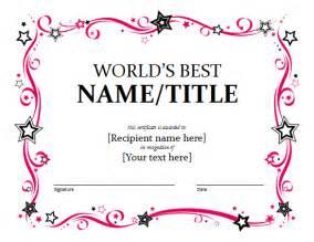 Template For Award Certificates Award Certificate Template Sample Format