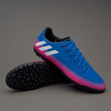 Sepatu Soccer Adidas Messi 16 Biru Hitam Fg Grade Ori Import sepatu futsal adidas messi 16 3 tf blue white solar orange