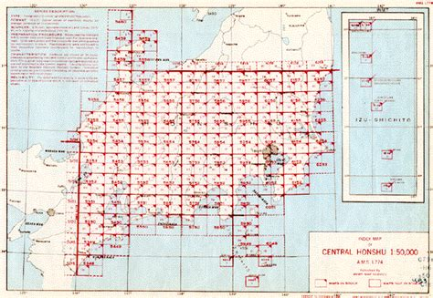 where does the series number on a map appear u s army map service ams series l774 index map central honshu 1 50 000