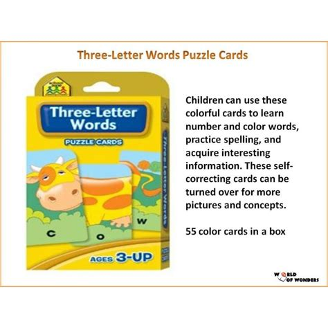 puzzle cards three letter words puzzle cards wooks