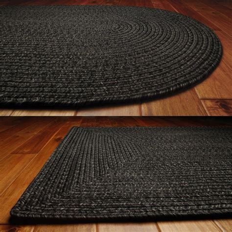 Oval Indoor Outdoor Rugs Solid Braided Area Rugs Indoor Outdoor Oval Rectangle