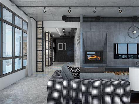 small loft designed for big impact industrial loft apartment design ideas with elegant dark