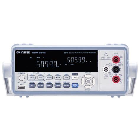 digital bench multimeter gw instek gdm 8342gpib digital bench multimeter rapid online