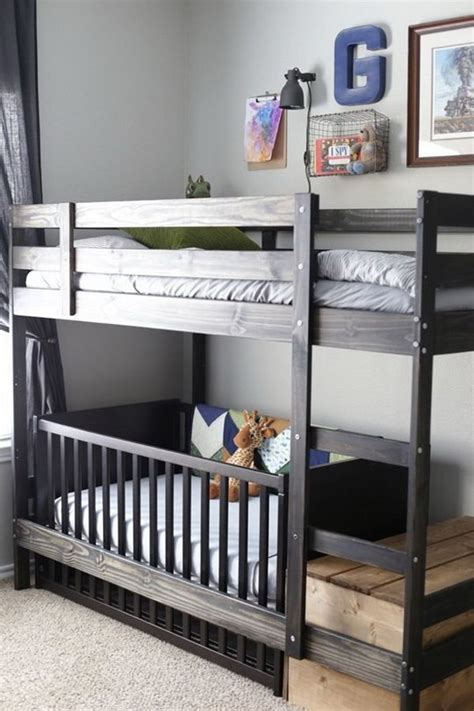 Bunk Bed With Crib On Bottom 20 Awesome Ikea Hacks For Beds Hative