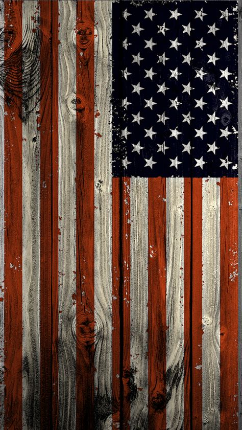 wallpaper for iphone 5 wood american flag vertical