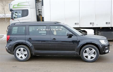 new skoda suv spied could get 3 rows and 7 seats