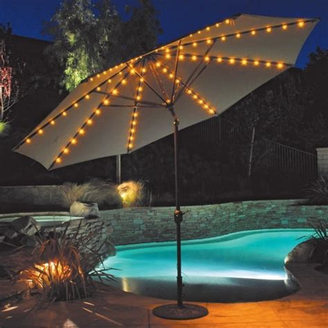 patio umbrella with led umbrella lights auto tilt design