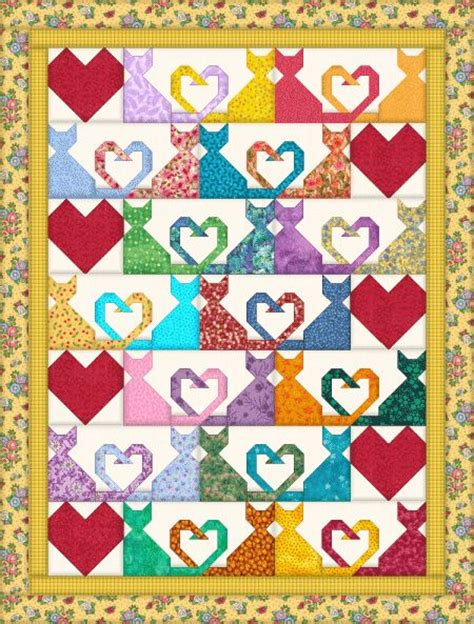Patchwork Cat Quilt Block Patterns - 25 best ideas about quilt pattern on