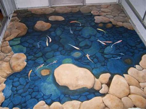3D Floor Murals: 10 Incredible Optical Illusion Designs to