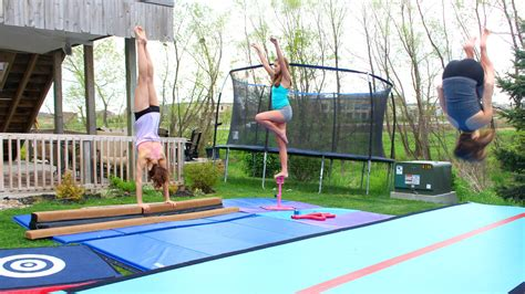 home gymnastics equipment and tumbling