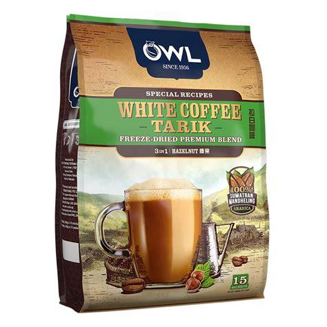 White Coffee Hazelnut owl white coffee tarik 3 in 1 hazelnut white coffee