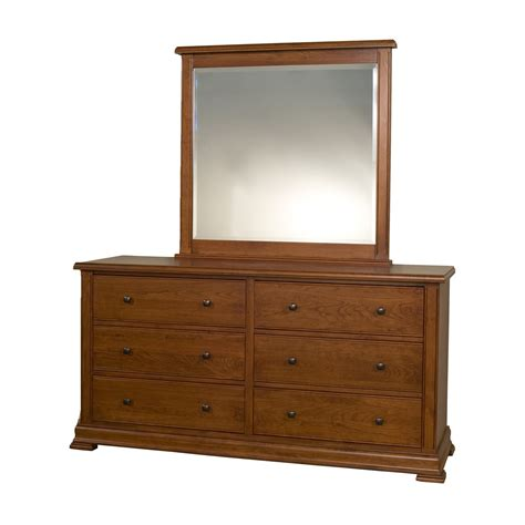 Craftsman Usa 270 Traditional Cherry Dresser And Mirror Cherry Bedroom Dresser