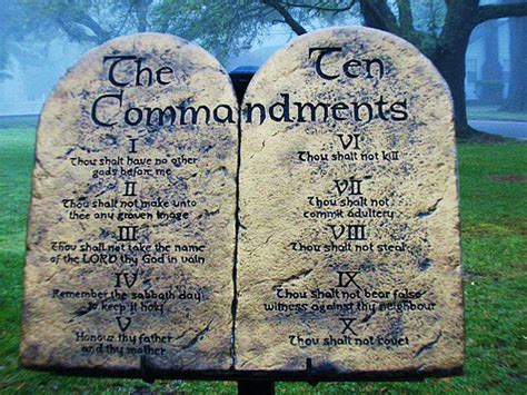 the ten commandments picture taken of a display of the