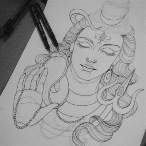 easy drawings easy pencil drawings of god shiva for drawing of sketch