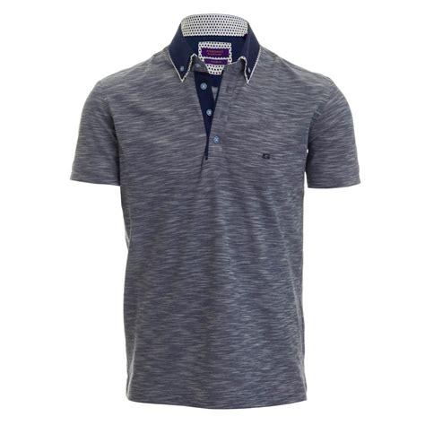 Kaos Giordano Contrast Collar Polo giordano olly pique polo shirt blue giordano from
