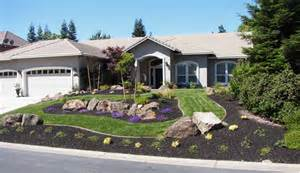 Curb Appeal Landscaping Design - water wise yard retained on a hill landscapes by rhodes