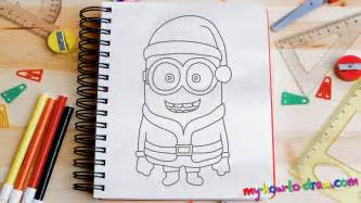draw minion santa claus easy step step drawing lessons kids