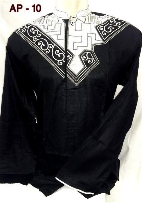 Baju Koko Pria Katun Twill Lengan Panjang Hitam Koko Hamish Black Ot baju lengan panjang pria 2015 images