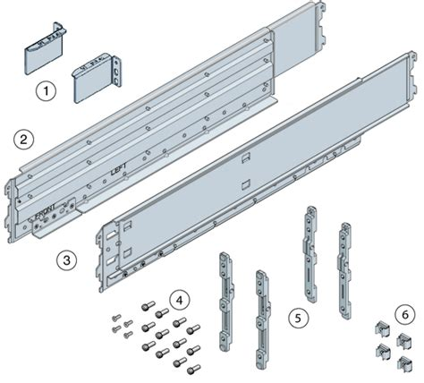 Rack Rails Server by Contents Of The Universal Rack Mounting Kit Sun