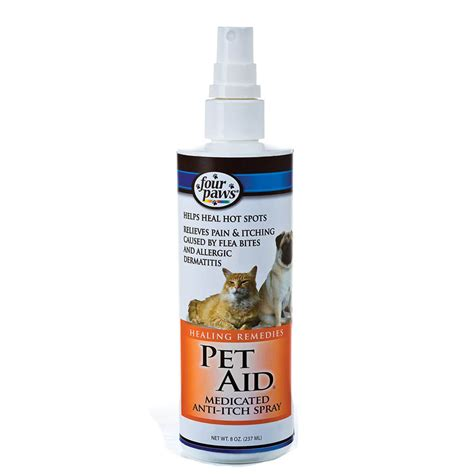 paws remedies four paws 174 pet aid medicated anti itch spray