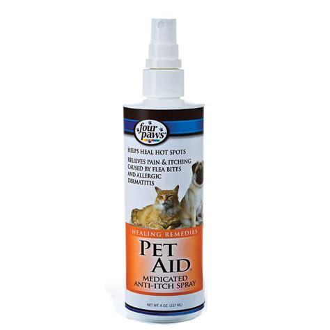 itch spray four paws 174 pet aid medicated anti itch spray