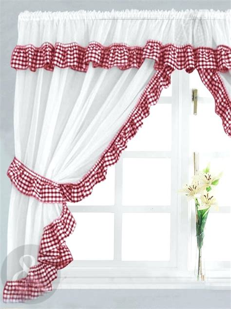 Black And White Gingham Curtains Black And White Gingham Kitchen Curtains Curtain Menzilperde Net
