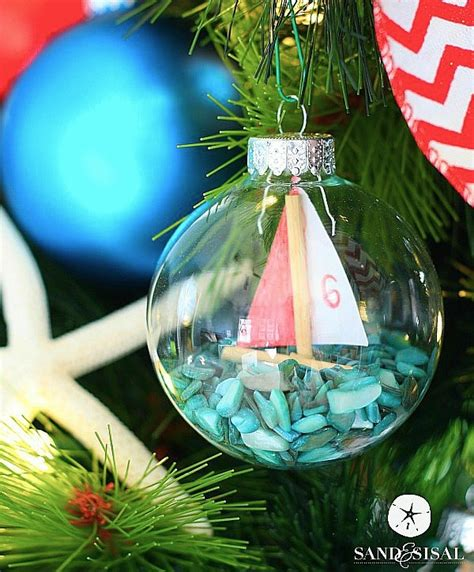 diy sailboat ornaments sand and sisal