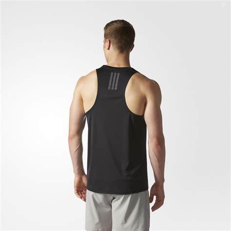 Best Product Promo Singlet Lekbong Fitness adidas response mens black climalite sleeveless running vest tank top singlet ebay