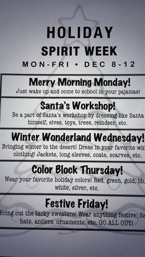 12 days of christmas ideas for work spirit week holidays spirit weeks and