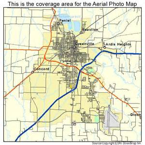 aerial photography map of greenville tx