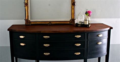 chalk paint top coat repainted buffet sloan s graphite chalk paint with