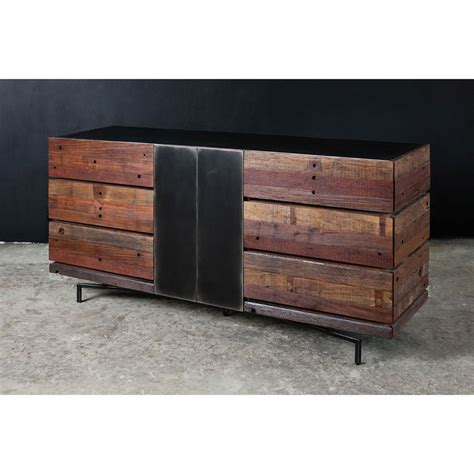 Reclaimed Wood Dressers by Don Rustic Modern Reclaimed Wood Metal Dresser Kathy Kuo