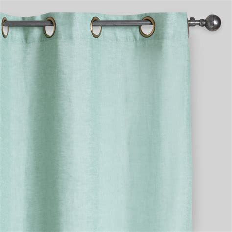 dusty curtains dusty aqua linen grommet top curtains set of 2 world market