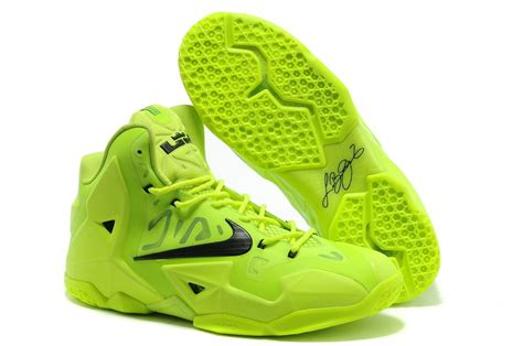 fluorescent basketball shoes cheap lebron 11 neon green black shoes for sale on www
