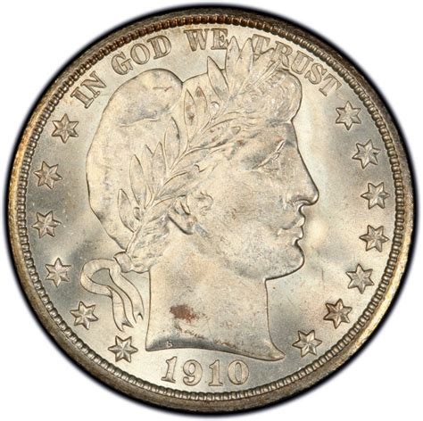1910 barber half dollar values and prices past sales