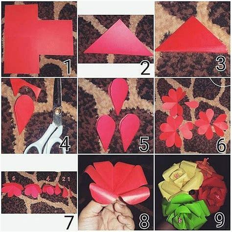 tutorial kertas origami love cara membuat hiasan dinding kamar dari kertas origami