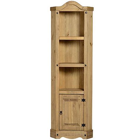 corner bookcase units mexican pine corona corner 3 shelf display unit bookcase new