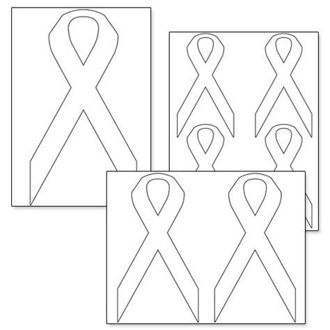 printable ribbon template printable cancer ribbon template printable template 2017