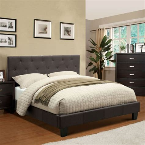 charcoal grey headboard corbin modern style charcoal gray finish queen size flax