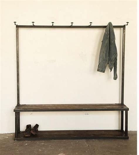 bench with storage and coat hooks coat rack bench remodelista
